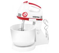 Миксер с чашей Centek CT-1113 (белый/красный)