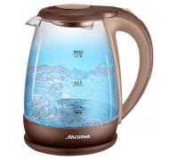 Чайник Аксинья КС-1040 бежевый/коричневый