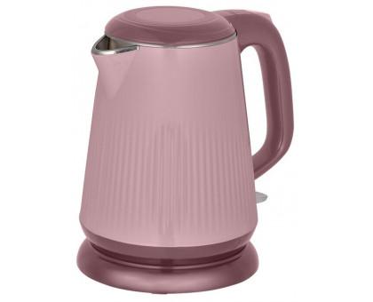 Чайник Аксинья КС-1030 розовый/коричневый