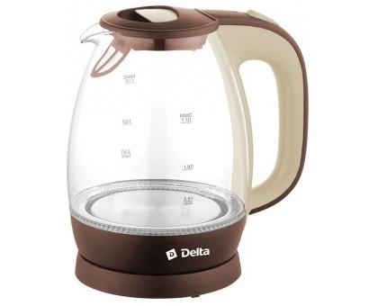Чайник Delta DL-1203 коричневый/бежевый