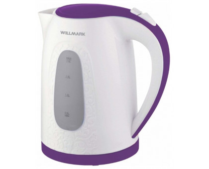 Чайник Willmark WEK-2009P (Белый/фиолетовый)