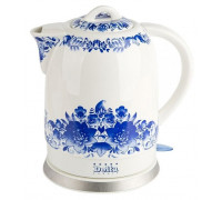 """Чайник Delta DL-1233B фарфор """"Синие цветы"""""""
