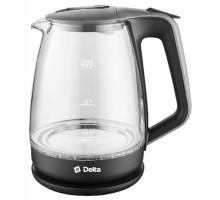 Чайник Delta DL-1331 черный/серый