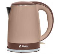 Чайник Delta DL-1370 бежевый/коричневый