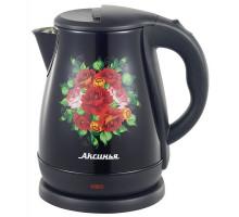 Чайник Аксинья КС-1051 черный Узоры