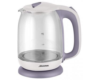 Чайник Аксинья КС-1020 белый/фиолетовый