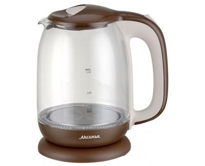 Чайник Аксинья КС-1020 коричневый/бежевый