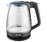 Чайник Delta DL-1331 черный/синий