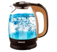 Чайник Centek CT-0056 (бежевый/кофе)