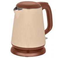 Чайник Аксинья КС-1030 бежевый/коричневый