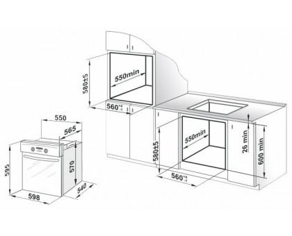 Духовой шкаф встраиваемый Gefest ЭДВ ДА 622-03 РН3