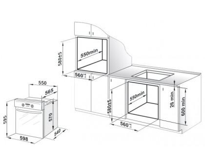 Духовой шкаф встраиваемый Gefest ЭДВ ДА 622-02 БS