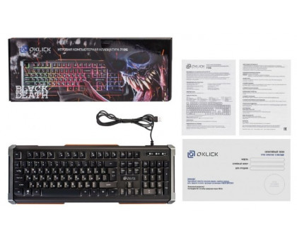Клавиатура Oklick 710G BLACK DEATH
