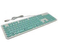 Клавиатура Oklick 400MR белый/мятный