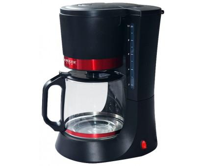 Кофеварка Delta LUX DL-8152 черная/красная