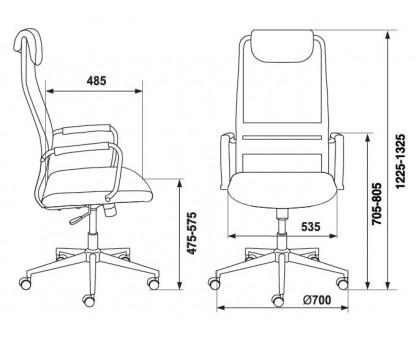 Кресло руководителя Бюрократ KB-9N/BLACK