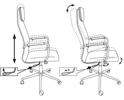 Кресло руководителя Бюрократ KB-9N/DB/TW