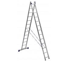 Лестница 2-х секционная алюминиевая Stairs AL213