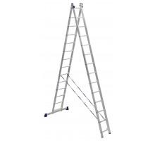 Лестница 2-х секционная алюминиевая Stairs AL214