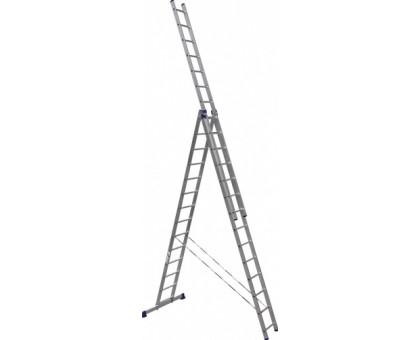 Лестница 3-х секционная алюминиевая Stairs ALP314