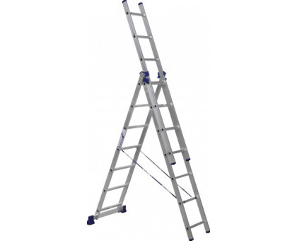 Лестница 3-х секционная алюминиевая Stairs AL307