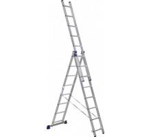 Лестница 3-х секционная алюминиевая Stairs AL308