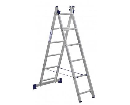 Лестница 2-х секционная алюминиевая Stairs AL206