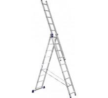 Лестница 3-х секционная алюминиевая Stairs AL309