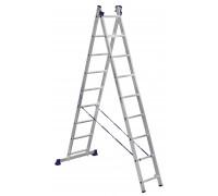 Лестница 2-х секционная алюминиевая Stairs AL209