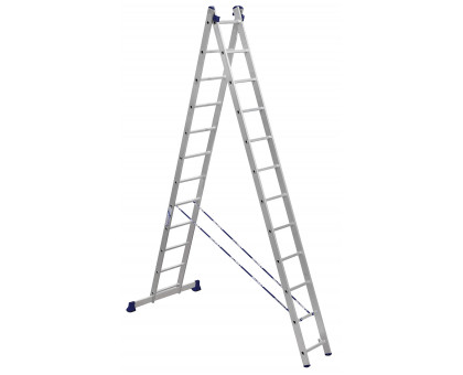 Лестница 2-х секционная алюминиевая Stairs AL212
