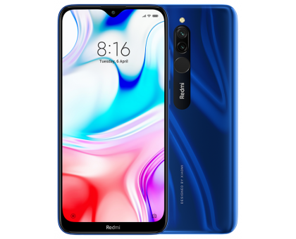 Смартфон Xiaomi Redmi 8 Sapphire Blue 4Гб/64Гб (M1908C3IG)