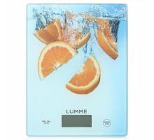 Весы кухонные Lumme LU-1340 апельсиновый фреш