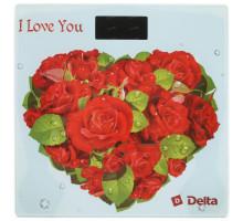 Весы напольные Delta D-9217 Розы для любимой