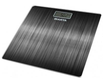 Весы напольные Мarta MT-1677 черный алюминий