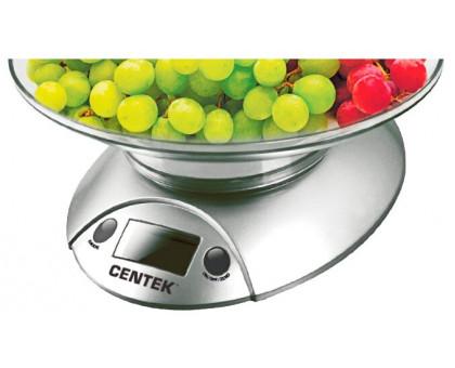 Весы кухонные Centek CT-2451 (серебро/черный)