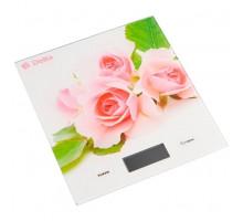 Весы кухонные Delta КСЕ-56 Розовые розочки