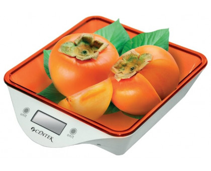 Весы кухонные Centek CT-2455 (белый/оранжевый)