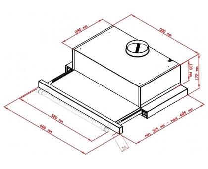 Вытяжка телескопическая Simfer BETA