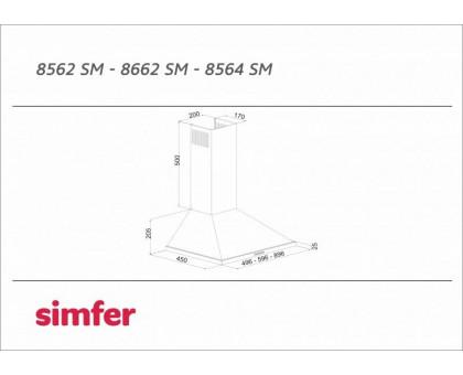 Вытяжка купольная Simfer 8562 SM